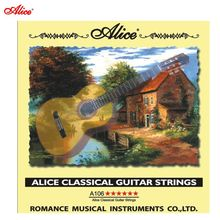 Top Quality 6pcs/set Alice classical guitar strings A106 /Clear Nylon strings Silver Plated Copper Alloy Wound