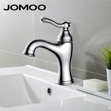 JOMOO bathroom basin faucet deck mount lavatory basin mixer chrome single hole elegant desin brass sink faucet(China)