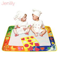 Children Doodle big size 73.5X49cm Drawing Toys/ doodle mat with 1pcs Painting pen with 1 stamp gift(China)