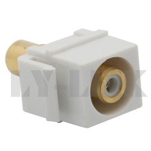new style keystone RCA video component connector with white color(China)