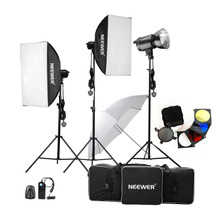 Neewer 900W 300W x 3 Professional Photography Studio Flash Strobe Light Lighting Kit for Portrait Photography Studio Video Shoot(China)