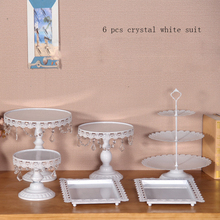 White wedding cake accessory stand set 6 pieces cupcake stand decorating cooking cake tools bakeware set party dinnerware
