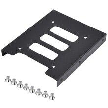 Новый черный 2.5 дюймов SSD HDD до 3.5 дюймов металлический Монтажный кронштейн адаптера док для ПК SSD xXM(China)