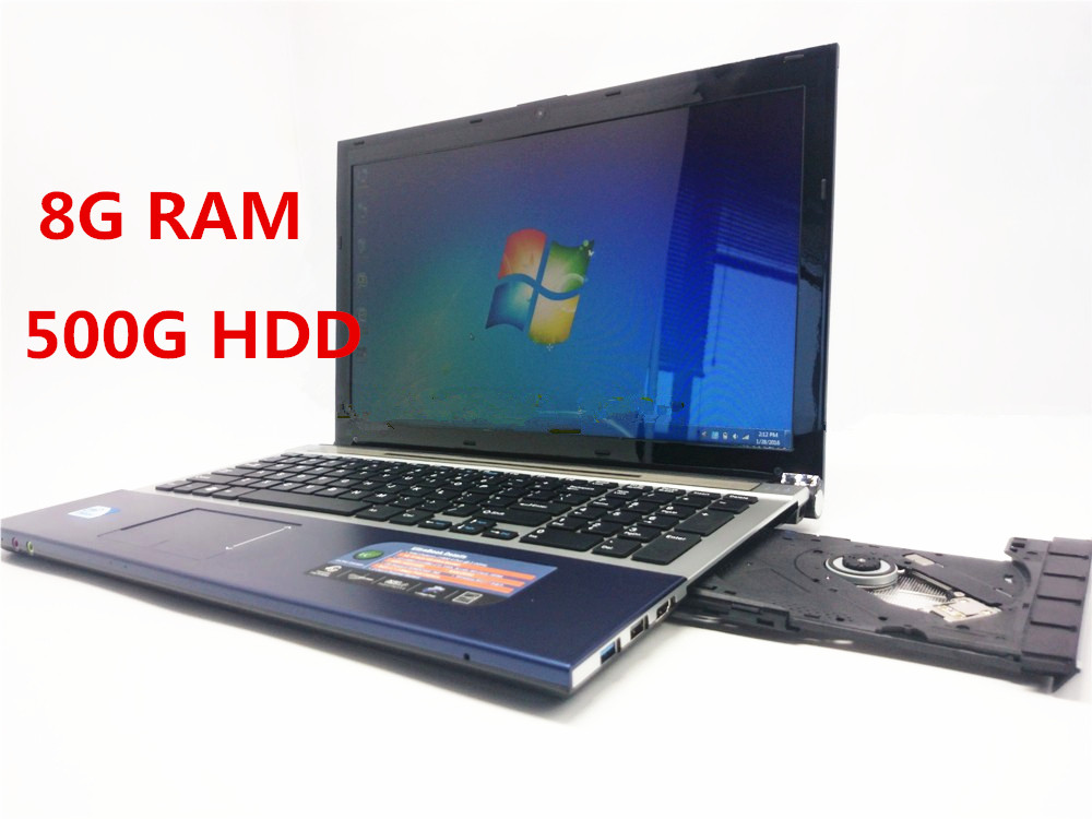 Free Postage 1920*1080P 1037U /J1900 15.6Inch Windows7/8 Laptop 8GB+500GB HDD tablet PC Computer Qual Core DVD-RW WIFI Notebook(China (Mainland))