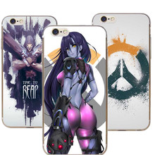 Hot Fashion Game Overwatch D.Va Reaper Gemji Mccree Phone Case Hard Cover For Apple iPhone 7plus 7 6splus 6s 6plus 6 5 5s SE