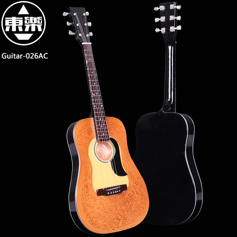 Wooden Handcrafted Miniature Guitar Model guitar-026AC Guitar Display with Case and Stand (Not Actual Guitar! for Display Only!)<br>