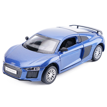 High Simulation 1:32 Scale AUDI R8 V10 Diecast Metal Alloy Car Model Toy With Pull Back Flashing For Kids Toys Collection(China)