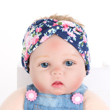 1PC New Style Cute Baby Kids Girl Infant Children Flower Hairband Turban CrossKnot Rabbit Headband Headwear Hair Band Accessorie(China)