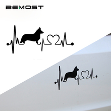 BEMOST 5Pcs/lot Car Styling Lovely Dogs Electrocardiogram Car Stickers Vinyl Waterproof Auto Accessories Covers 15.5*6.6cm