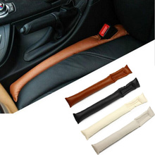 CAR-partment Faux Leather Car Seat Gap Pad Fillers Holster Spacer Filler Padding Protective Case Auto Cleaner Slot Plug Stopper(China)