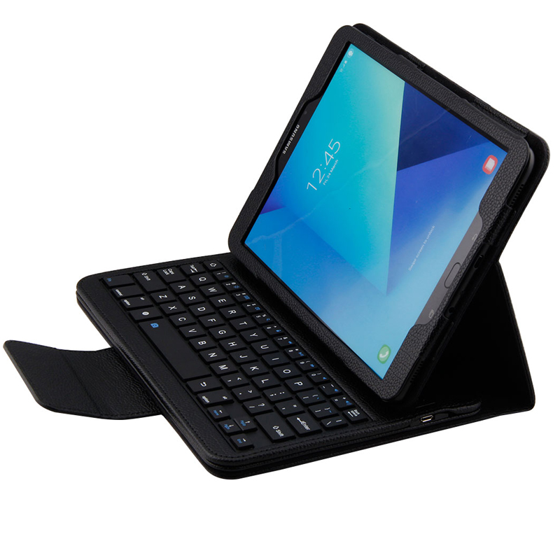 PU Detachable Wireless Bluetooth Keyboard Protective Case Cover for Samsung Galaxy Tab E 9.6 Tablet SM-T560 / T561 / T565 funda<br>
