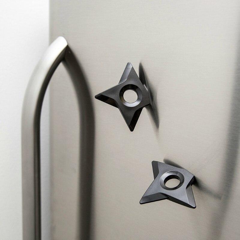 Creative 2pcs/set Ninja Shuriken Magnets,Chiller Killer Assassin Ninja Star Dart Refrigerator Magnets throwing Dart fridge stick<br>