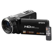 RU Stock ORDRO HDV-Z8 Full HD 1080P Digital Video Camera 16x Digital Zoom LCD Touch Screen 24MP Camcorder Support Face Detection