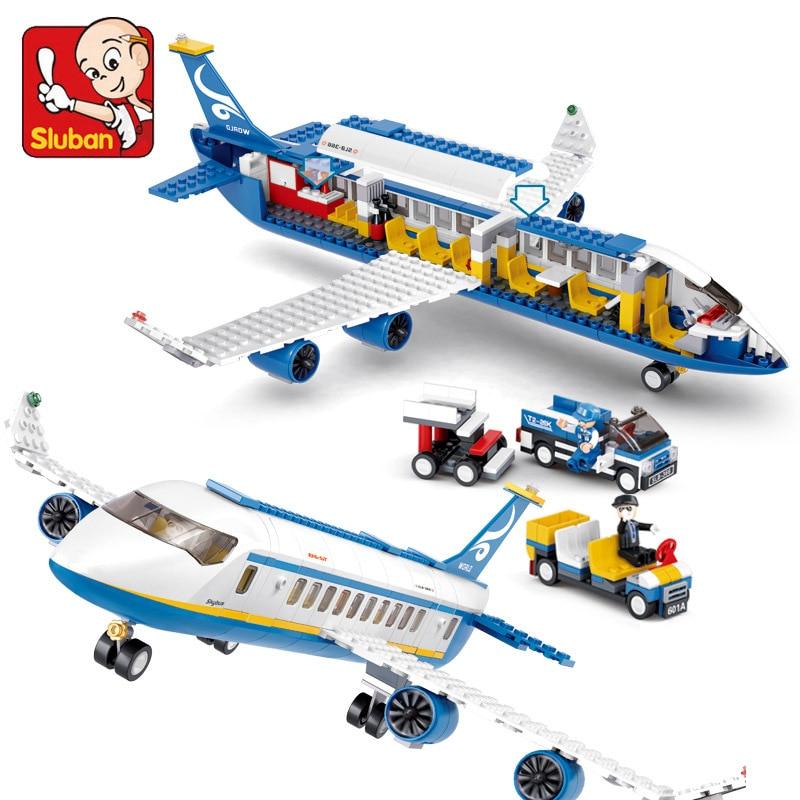 New Original Sluban Airbus Aircraft Model Building Blocks Sets Airplane Bricks Toys Compatible <br><br>Aliexpress