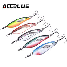 ALLBLUE Metal Fishing Lure 5pcs/lot 15.8g Spoon Lure Spinner Bait Fishing Tackle Hard Bait Spinner Bait Isca Artificial Peche(China)