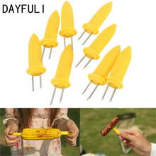 DAYFULI 6pcs Safe Corn on the Cob Holders Skewers Needle Prongs For BBQ Barbecue Garden Hand Tools Fork(China)