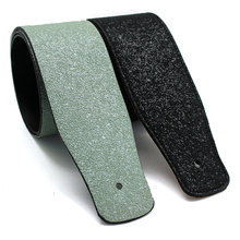 PU Leather Guitar Strap for For Acoustic Electric Guitar and Bass Black And Green Guitar Belt  S517