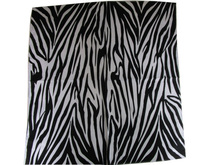 Free Shipping 2017 New Fashion Black And White Zebra Print Bandana For Women