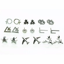 New Fashion Brincos Tiny Plain Deer Eiffel Tower Triangle Palm Smile Star Minimalist Stud Earrings For Women Wedding Jewelry(China)