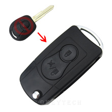 NEW 2 BUTTONS Flip Folding Car Remote Key Case SHELL For Ssangyong Actyon  Kyron Ssangyong key modification