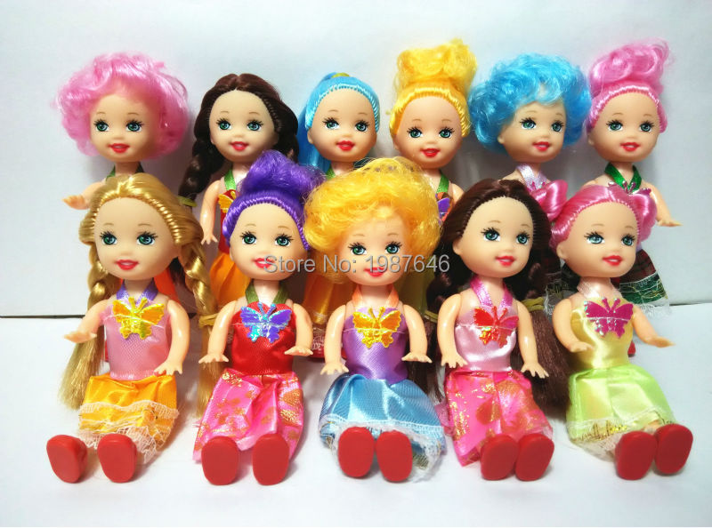 2PCS/lot Mother and Tremendous cute dolls Kelly Mini Equipment for Barbie Doll Home Basic for Ladies play home Toys free delivery