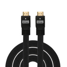 High Quality 1.5M HDMI Cable 180i 480p 720p 1080p 2160p HDMI to HDMI Flat Cable For PS3 DVD HDTV XBOX LCD HD TV 1080P(China)
