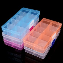 10 Slots Adjustable Transparent Jewelry Storage Box Ring Earring Drug Pill Beads Portable Plastic Organizer Case Travel Bins(China)
