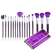 Wholesale Excellent 16pcs Purple Makeup Brushes 16 pcs Makeup Cosmetic Brushes Kit Foundation Powder Eyeshadow Brush 100sets/lot