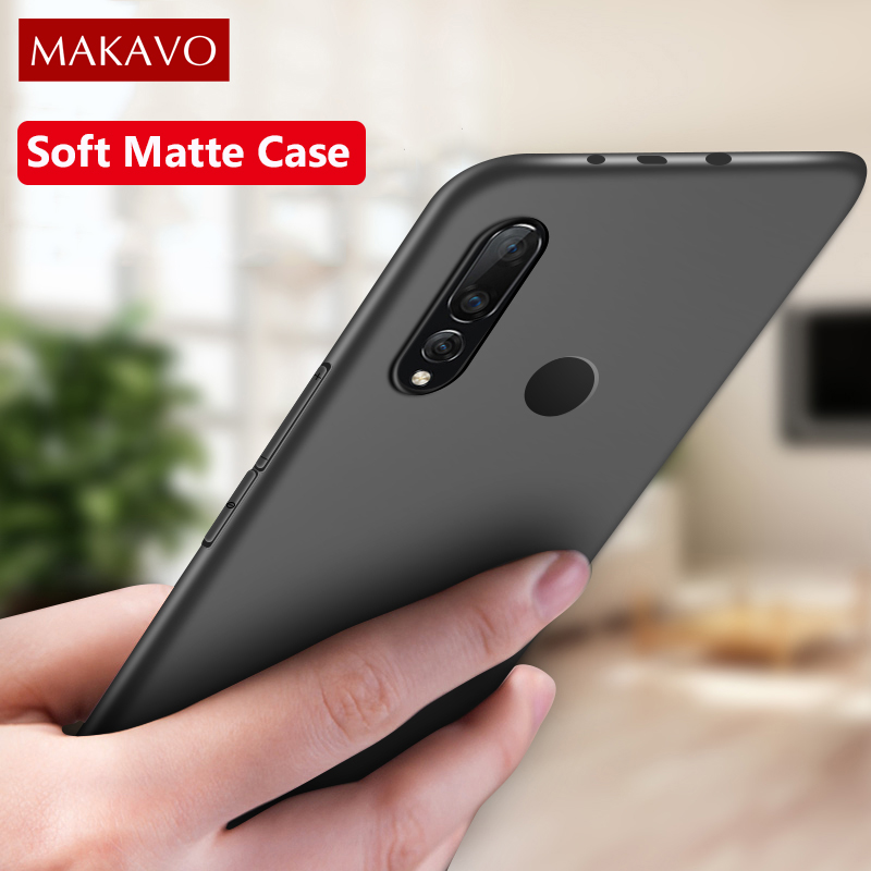 MAKAVO For Samsung Galaxy A50 Case Slim Matte Soft Cover Cases For Samsung Galaxy A10 A30 A70 A20 A40 A60 Phone Cases(China)