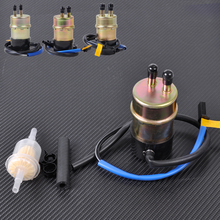 New 6mm 12v 60LPH Fuel Pump Replaces Filter for Kawasaki Mule 3020 3010 3000 2510 2520 1000 1992 ~ 2003 2004 2005 2006 2007 2008