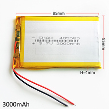 405585 3000mAh 3.7V Lithium Polymer Battery Li ion Lipo Rechargeable battery For Mobile phone Power Bank Tablet pc PAD LAPTOP(China)