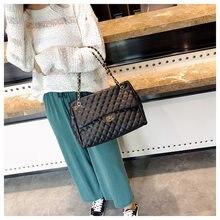 NEW luxury Ladies Pu Leather Messenger Bags Big Shoulder Bag Crossbody  diamond bags High quality Chain Bag for Female Handbag c32bbfea43d5