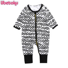 Ubetoku Newborn Baby cotton Clothes Infant Romper Long Sleeve Boys lines One-Pieces Rompers kids Jumpsuit Pajamas kidswear