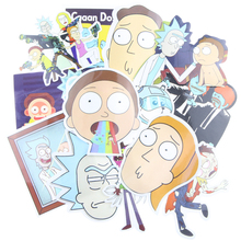 35Pcs/bag American Drama Rick And Morty Funny Sticker Decal For Car Laptop Bicycle Motorcycle Notebook Waterproof Stickers(China)