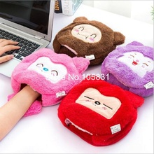 Cartoon USB Winter Hand Warmer Mouse Pad with Wristband Washable detachable Thicken Plush Heating