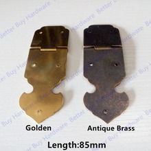 85*30mm Golden color /Antique brass color box hinge Furniture Accessories Hardware Decoration