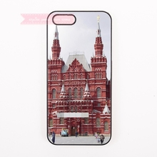 great building Red Square in Moscow Russia Hard Back Cover Phone Case For iphone 4s 5s 5c se 6 6S plus 7 7 Plus case art amazing(China)