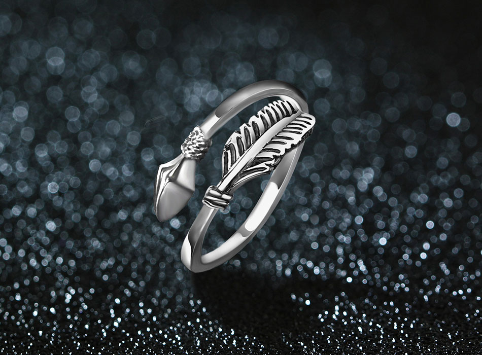 Astonishing Resizable Sterling Silver Cupid Arrow Ring