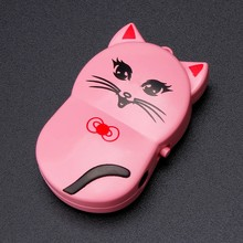 Mini Metal Clip USB MP3 Player Lovely Cute Cat Mp3 Player Support upto 32GB Micro SD TF Card Music Media #ET(China)