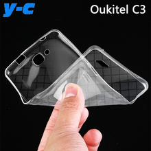 Oukitel C3 Case 5.0 Inch High Quality 100% New Ultra Thin Soft Original TPU Silicon Back Case Cover For Oukitel C3 Phone