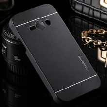 Deluxe Brushed Aluminum Metal Armor Case for Samsung Galaxy Core 2 G355 G355H Brush Hard Back Cover Protective Metal Phone Cases
