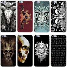 Satanic Skull Hard Transparent Cover Case for iPhone 7 7 Plus 6 6S Plus 5 5S SE 5C 4 4S