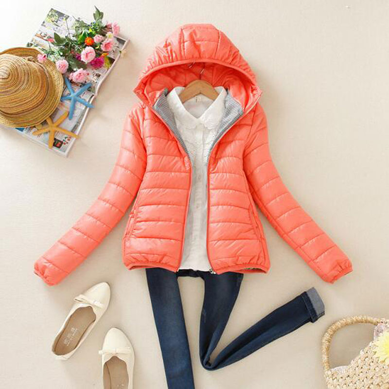 Winter Jacket Women Basic Coat Female Cotton Padded Ultra Thin Snow Parka New 2017 Multicolor Stand Collar Slim Short Coats Y343Одежда и ак�е��уары<br><br><br>Aliexpress