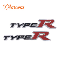 2016 Car Styling 3D TYPER TYPE R Racing Emblem Badge Logo Decal Sticker Stickers for HONDA KIA Acessories Mugen Auto Accessories