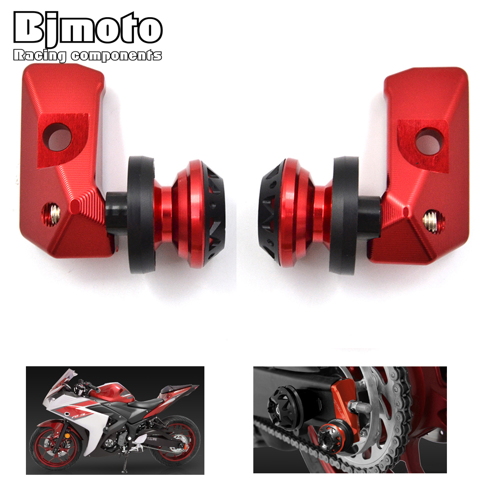 CA-R3+Screws CNC Rear Axle Spindle Chain Adjuster Blocks with Spool Sliders Kit For Yamaha YZF R3 YZF R25 MT 03 MT 25 YZF-R3 ABS<br>