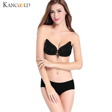 Buy Women intimates Bra Ladies Strapless Bandage Stick Gel Silicone Lace Breast Lift Push-up Invisible Bra Self Adhesive Bra JY06