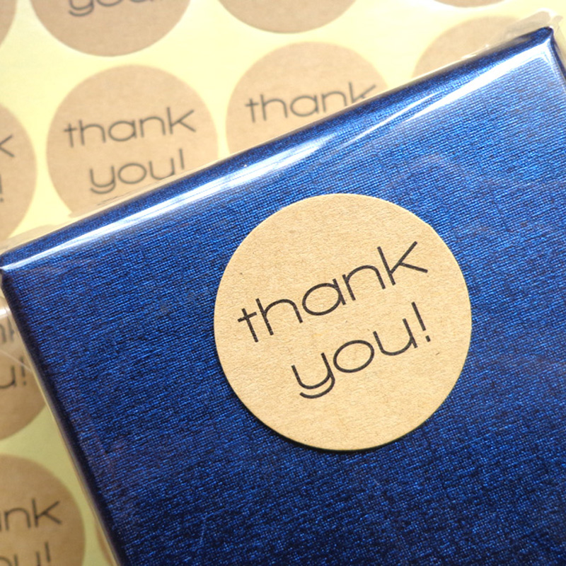 240PCS/lot Kraft THANK YOU Design Sticker Labels food Seals, Gift stickers Wedding seals free