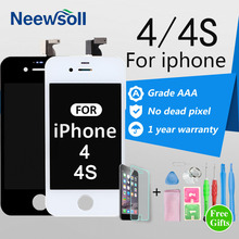 Neewsoll AAA Grade 3.5'' Screen For iPhone 4 4S LCD Display Touch Screen Digitizer Assembly Replacement No Dead Pixel(China)