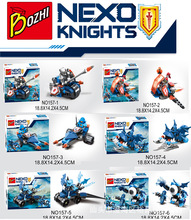 6Pcs Lastest Nexus Knights Building Block Future Knight Robin Macy Clay Beast Master Lavria Compatible With lepin B26(China)