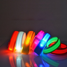 500pcs High Bright Led Flashing Armband Safety Arm Band Nylon Wrist Strap for Running Warning Night Party Activity Cheer ZA1137